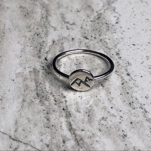 925 Sterling Silver Mountain Ring Flawed
